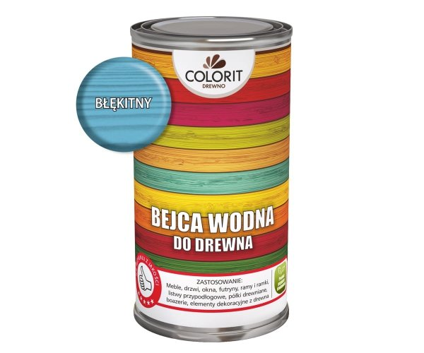 Colorit Bejca Wodna Do Drewna 0,5L BŁĘKITNY 500ml do
