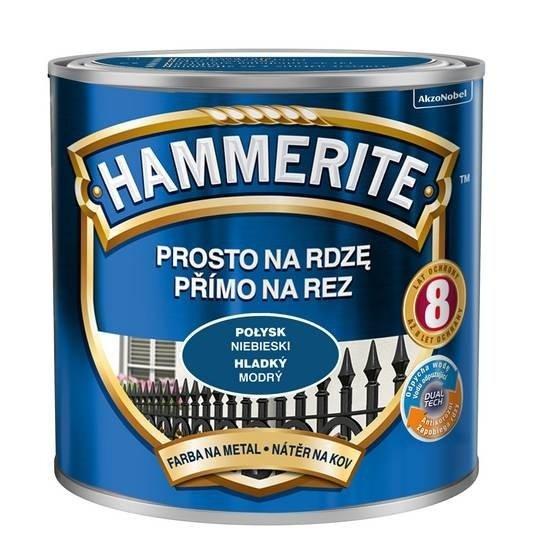 Hammerite Na Rdzę 0,25L NIEBIESKI POŁYSK hamerite farba