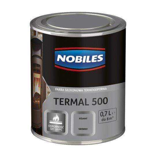 Nobiles Termal 500 SREBRNY 0,7L termoodporna farba silikonowa PÓŁMAT