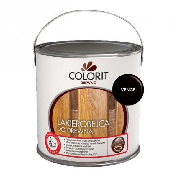 Colorit Lakierobejca Drewna 2,5L VENGE WENGE szybkoschnąca satynowa farba do