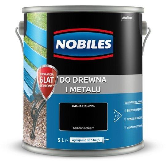 Nobiles alkidowa 5L CZARNY farba Ftalonal emalia czarna