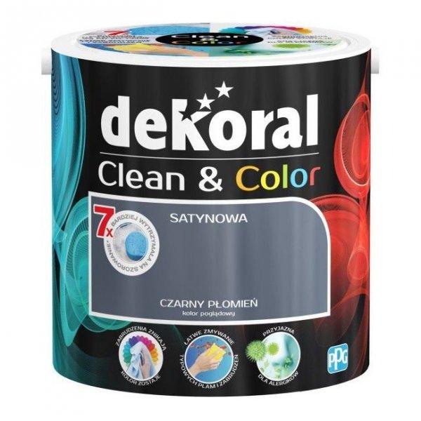 Dekoral CLEAN COLOR 2,5L Czarny Płomień satynowa farba lateksowa