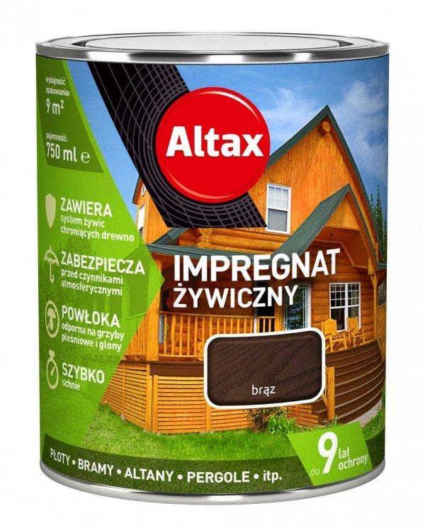 Altax Impregnat 0,75L BRĄZ Żywiczny Drewna Szybkoschnący