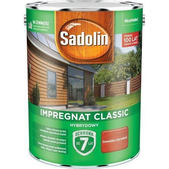 Sadolin Classic impregnat 4,5L SZWEDZKA CZERWIEŃ 98 drewna clasic