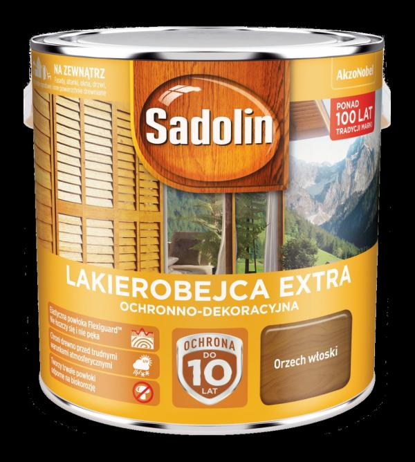 Sadolin Extra lakierobejca 2,5L ORZECH WŁOSKI 4 drewna