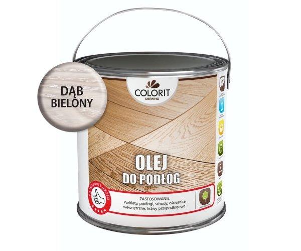 Colorit Olej Do Podłóg 2,5L DĄB BIELONY Drewna