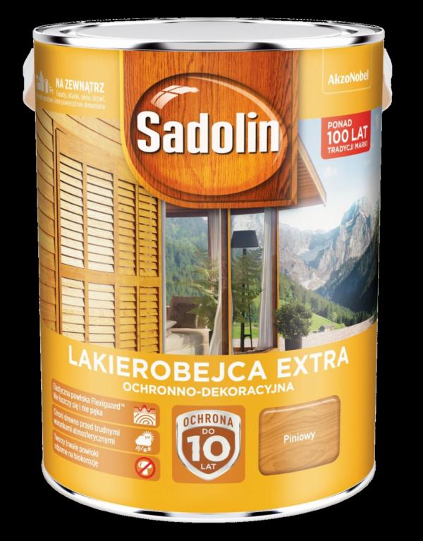 Sadolin Extra lakierobejca 5L PINIA PINIOWY 2 drewna