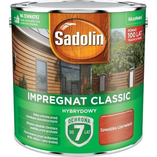 Sadolin Classic impregnat 2,5L SZWEDZKA CZERWIEŃ 98 drewna clasic