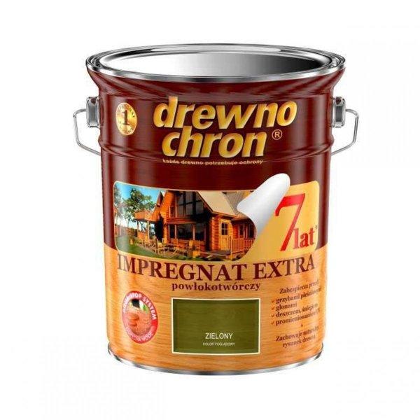 Drewnochron ZIELONY 4,5L Impregnat Extra drewna do