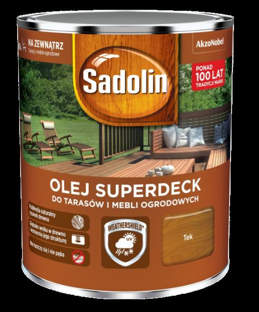 Sadolin Superdeck olej 0,75L TEK TIK 33 tarasów drewna do