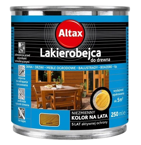 Altax Lakierobejca Drewna 0,25L ORZECH niebieska