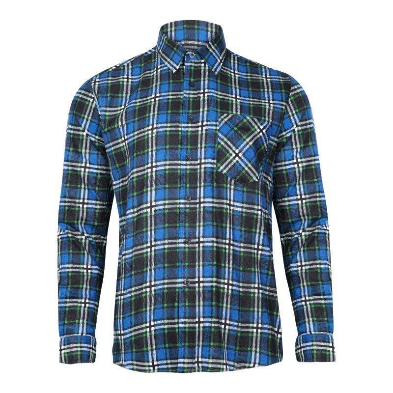LAHTI PRO Koszula robocza flanelowa S krata 120g niebieska
