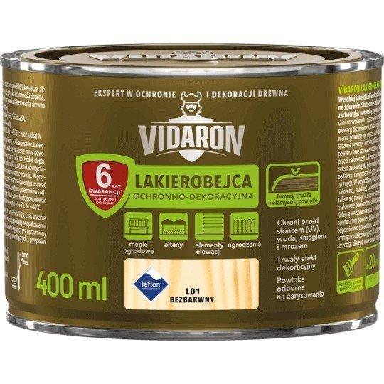 Vidaron Lakierobejca 0,4L L01 Bezbarwny do drewna