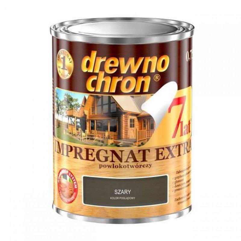 Drewnochron SZARY 0,75L Impregnat Extra drewna do powłokotwórczy
