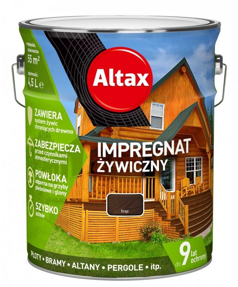Altax Impregnat 4,5L BRĄZ Żywiczny Drewna Szybkoschnący