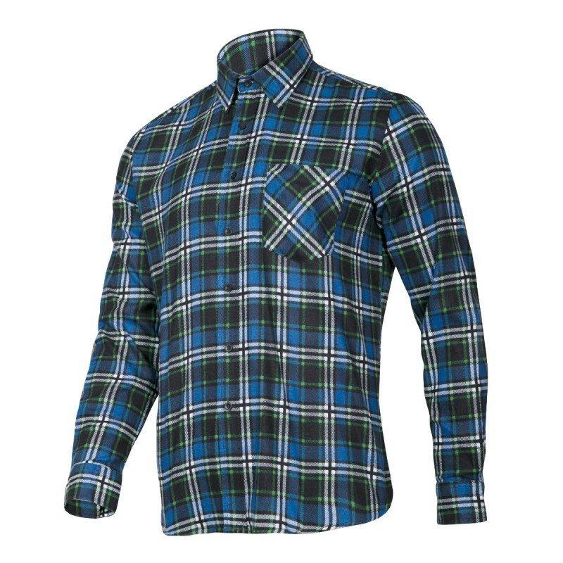 LAHTI PRO Koszula robocza flanelowa L krata 120g niebieska