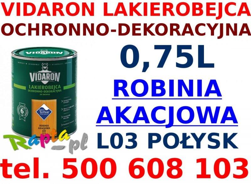 Vidaron Lakierobejca 0,75L L03 Robinia Akacjowa do drewna