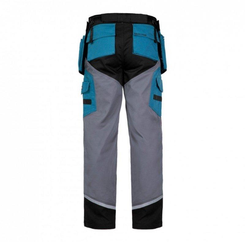 LAHTI PRO Spodnie robocze do pasa ochronne 3XL odblaski