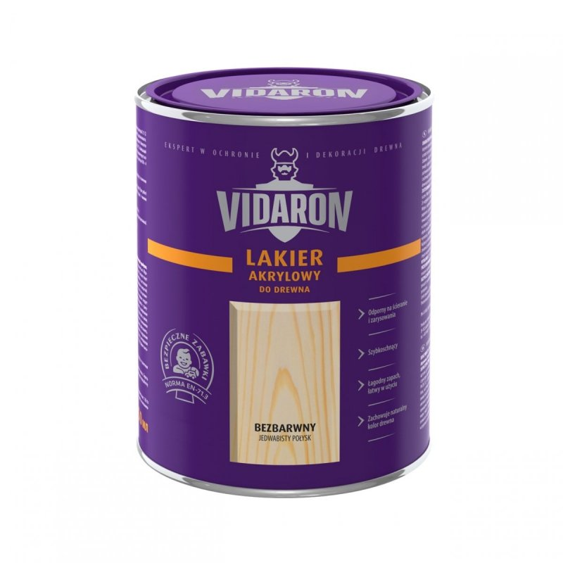 Vidaron Lakier akrylowy bezbarwny wodny 2,5L