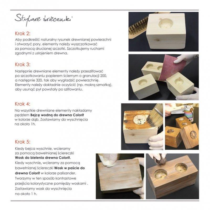 Colorit Wosk Drewna Pasta 0,5L DĄB 500ml do
