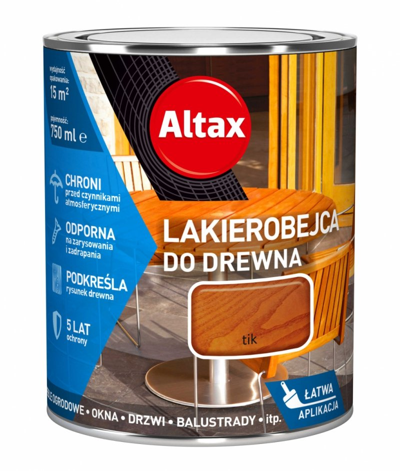 Altax Lakierobejca Drewna 0,75L TIK TEAK TEK niebieska