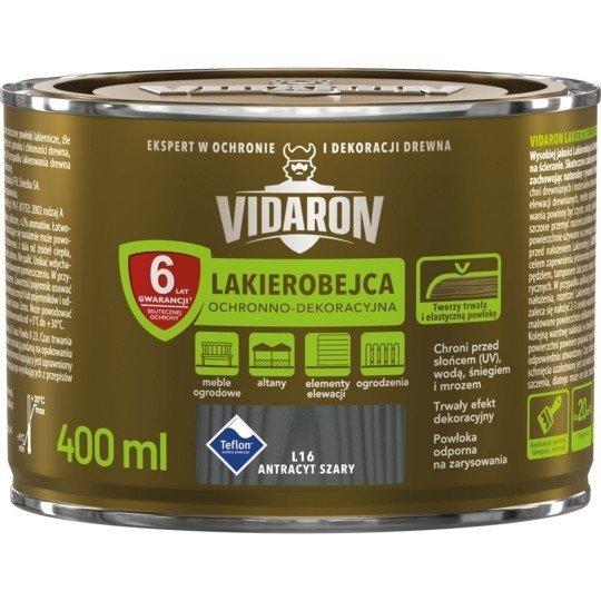 Vidaron Lakierobejca 0,4L L16 Antracyt Szary do drewna