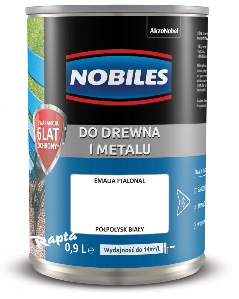 Nobiles alkidowa 0,9L BIAŁY farba Ftalonal biała emalia