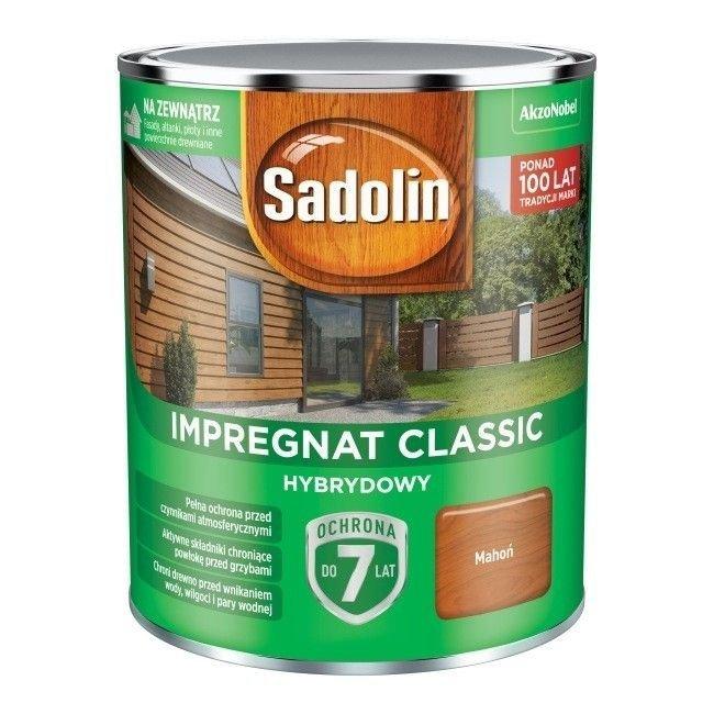 Sadolin Classic impregnat 0,75L MAHOŃ 7 drewna clasic