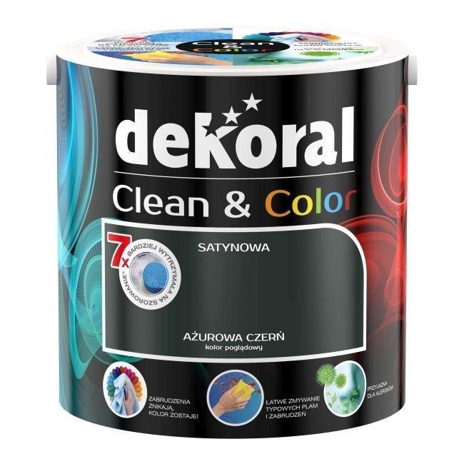 Dekoral CLEAN  COLOR 2,5L Ażurowa Czerń satynowa farba lateksowa