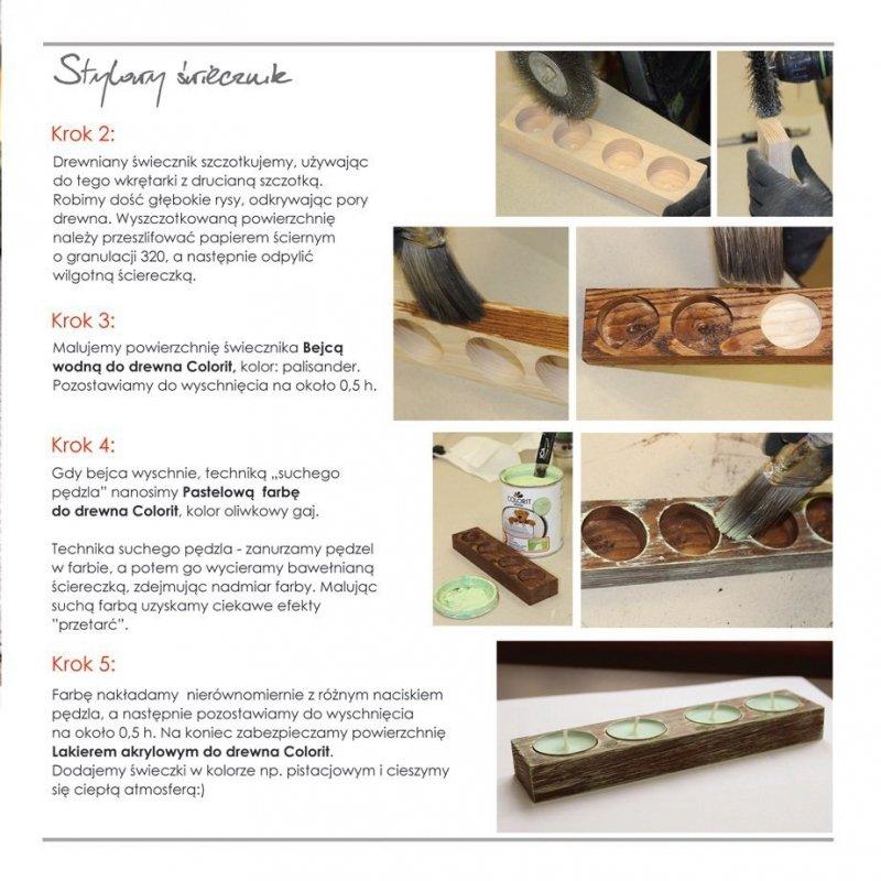 Colorit Pastelowa Drewna 2,5l ŚNIEŻNA BIEL akrylowa emalia do farba