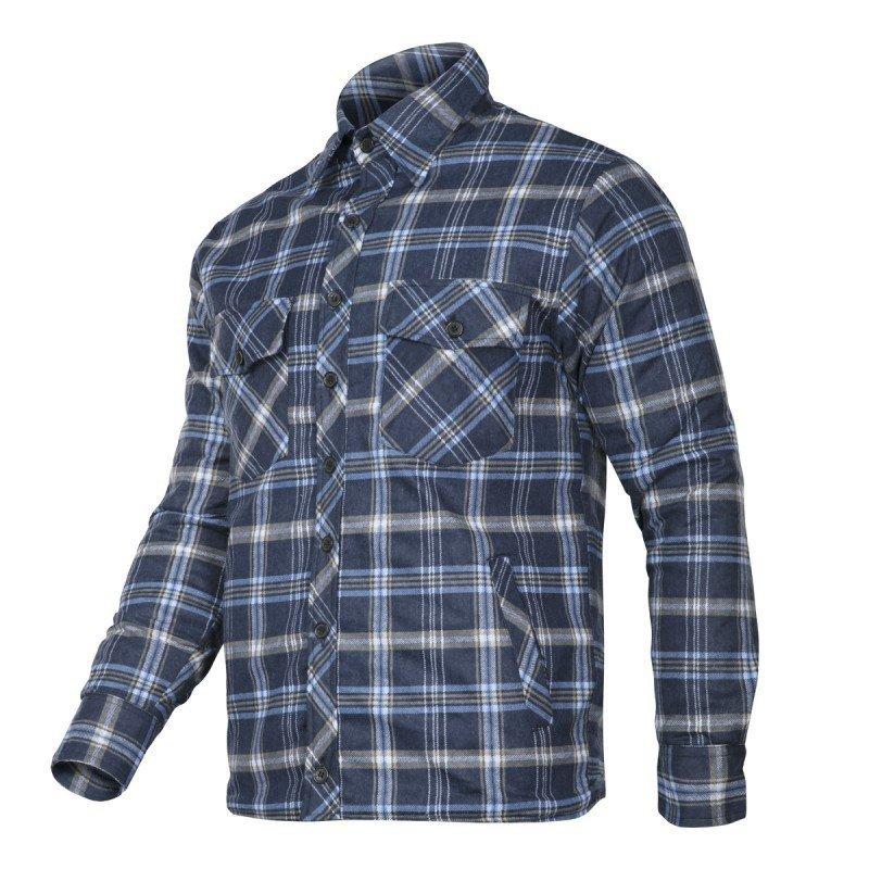 LAHTI PRO Koszula zimowa ocieplana flanelowa XL robocza granatowo-niebieska