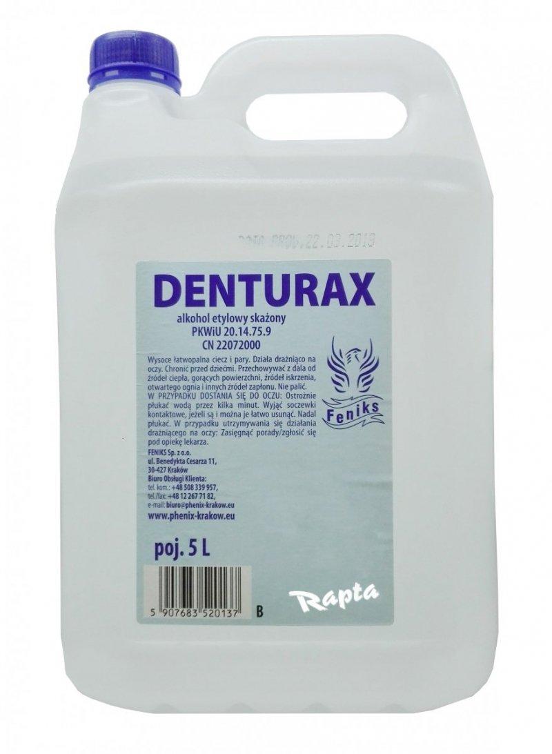 Denturax 5L denaturat BEZBARWNY mocny  etylowy 90% etanol