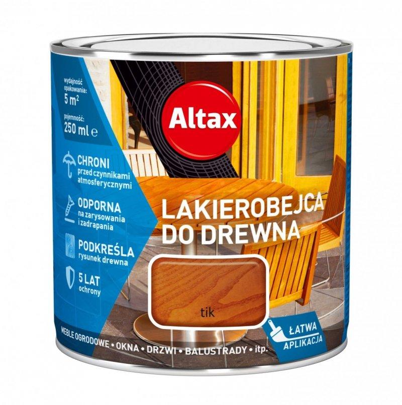 Altax Lakierobejca Drewna 0,25L TIK TEAK TEK niebieska