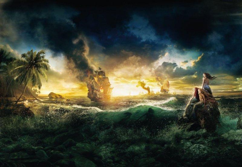 Fototapeta Dzieci 184x127 1-408 Piraci z Karaibów Disney Statek
