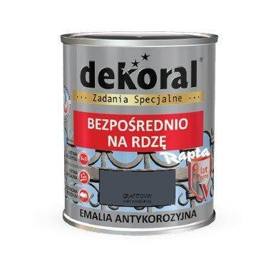 Dekoral Antykorozyjna 065l Grafitowy Półmat Emalia Na Rdzę Farba