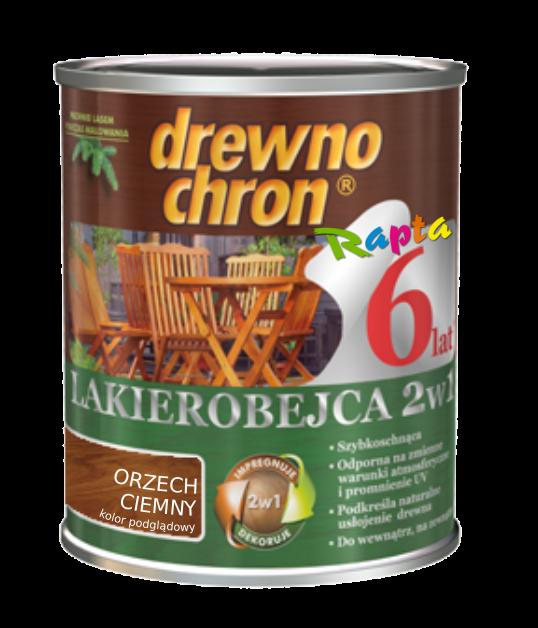 Drewnochron 2w1 Lakierobejca ORZECH CIEMNY 5L drewna do