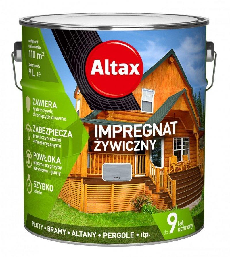 Altax Impregnat 9L SZARY Żywiczny Drewna Szybkoschnący