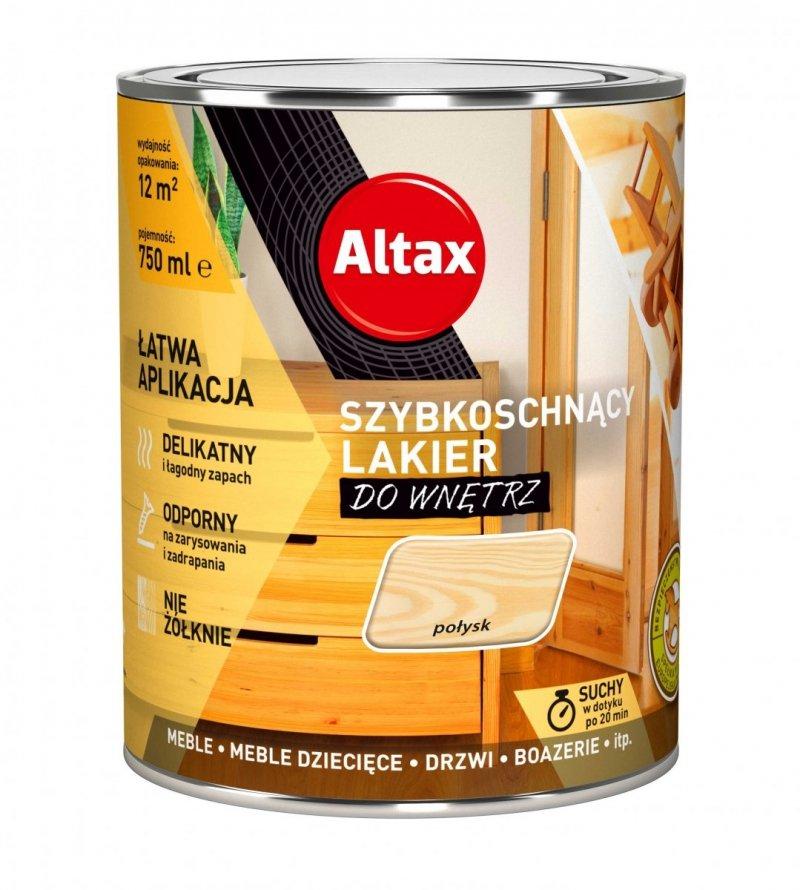 Altax lakier szybkoschnący drewna POŁYSK 0,75L bezbarwny do wnętrz