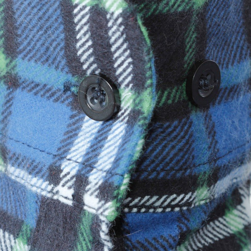 LAHTI PRO Koszula robocza flanelowa M krata 120g niebieska