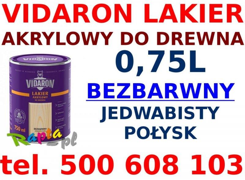 Vidaron Lakier akrylowy bezbarwny wodny 0,4L