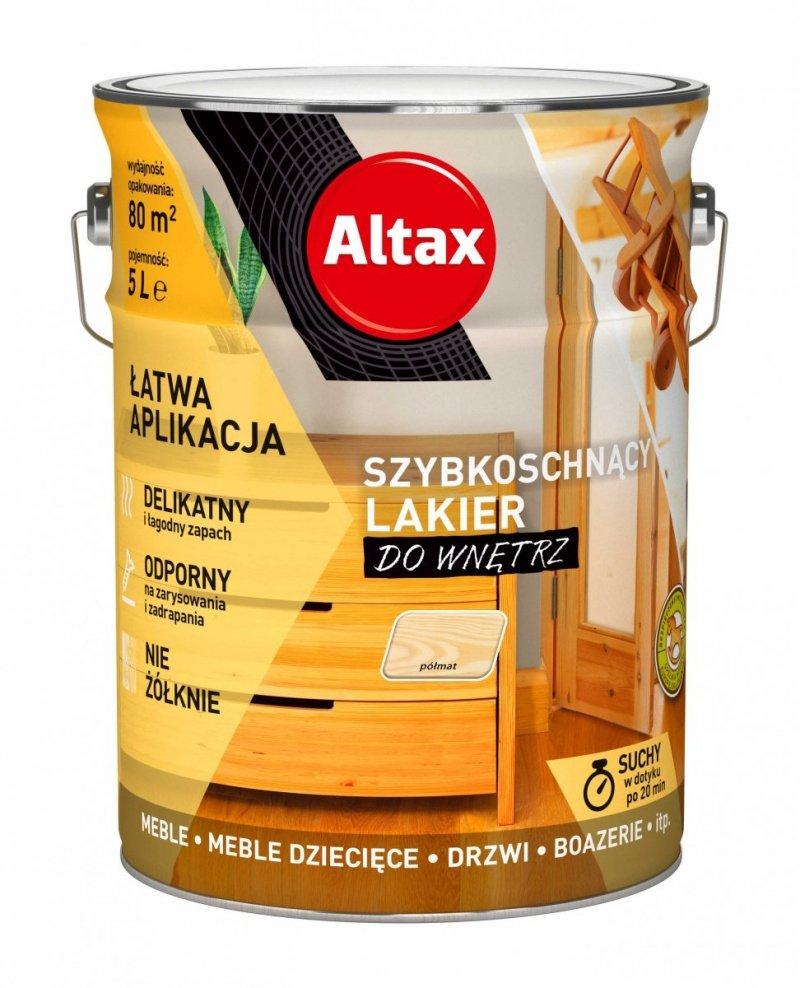 Altax lakier szybkoschnący drewna PÓŁMAT 5L bezbarwny do wnętrz
