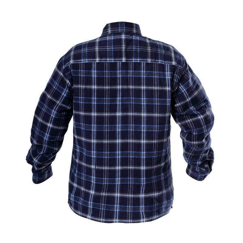 LAHTI PRO Koszula zimowa ocieplana flanelowa 2XL robocza granatowo-niebieska