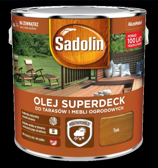 Sadolin Superdeck olej 10L TEK TIK 33 tarasów drewna do