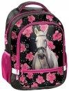 Plecak Szkolny z Koniem w Kwiaty dla Dziewczyny [18-260HR]