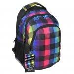 Plecak Szkolny Młodzieżowy Kolorowa Kratka Paso [14-699C]