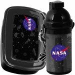 Śniadaniówka Bidon NASA Czarny dla Chłopaka Zestaw [PP21NN-3021]