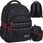 Plecak Czarny dla Chłopaka Młodzieżowy Szkolny Klawiatura [PLB3M45]