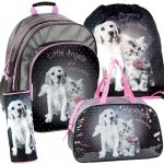 Plecak Szkolny Piesek Kotek Zestaw 4w1 dla Dziewczyny RHG-090