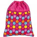 Worek na Buty Obuwie Gimnastyczny Młodzieżowy Plecak Różowy [17-713UH]
