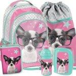 Plecak Szkolny Pies Piesek dla Dziewczynk Komplet Duży [PTD-181]